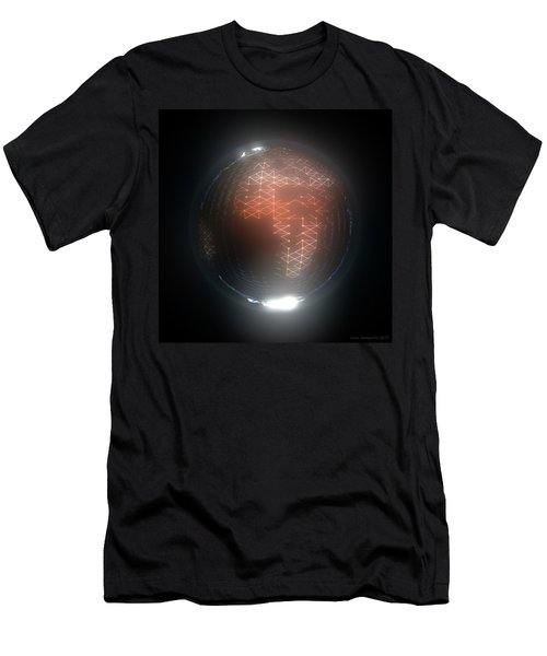 Albedo - Africa And Europe By Night Men's T-Shirt (Athletic Fit)
