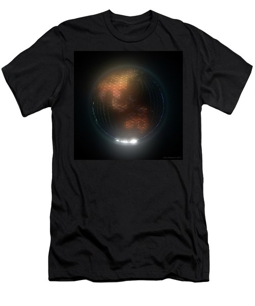 Albedo - Asia And Australasia By Night Men's T-Shirt (Athletic Fit)