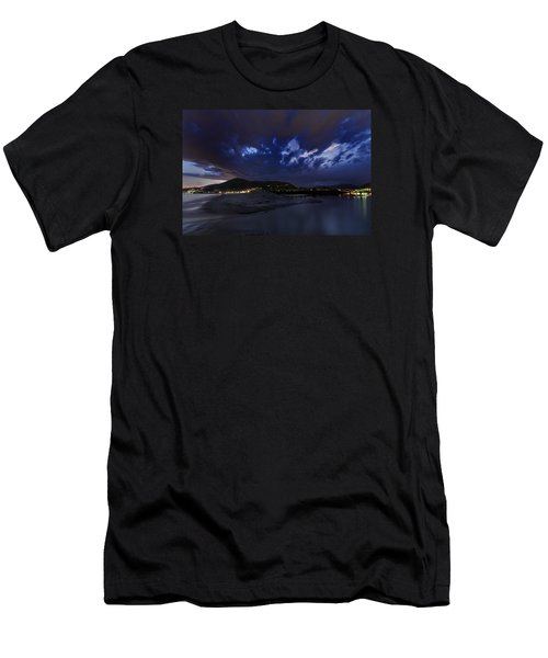 Albenga Alassio Coast Sunset With Clouds... Men's T-Shirt (Athletic Fit)
