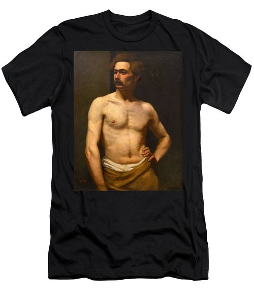 Men's T-Shirt (Athletic Fit) featuring the painting Albert Edelfelt Male Model by Artistic Panda