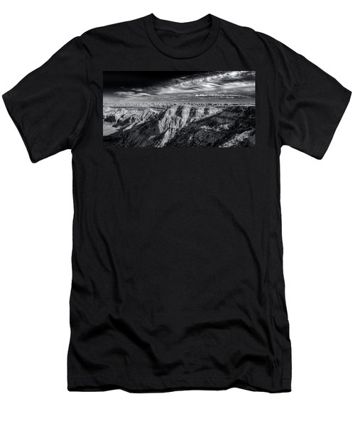 Men's T-Shirt (Slim Fit) featuring the photograph Alberta Badlands by Wayne Sherriff