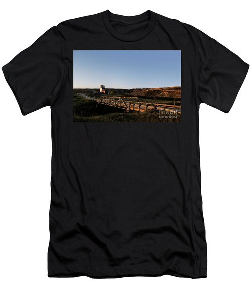 Men's T-Shirt (Athletic Fit) featuring the photograph Alberta Ghost Town by Brad Allen Fine Art