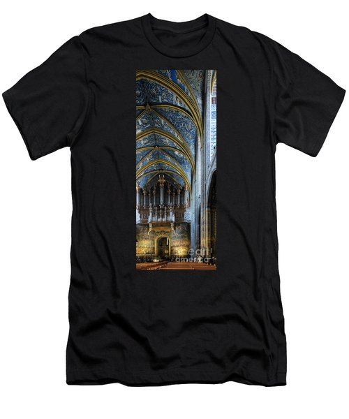Albi Cathedral Nave Men's T-Shirt (Slim Fit) by RicardMN Photography