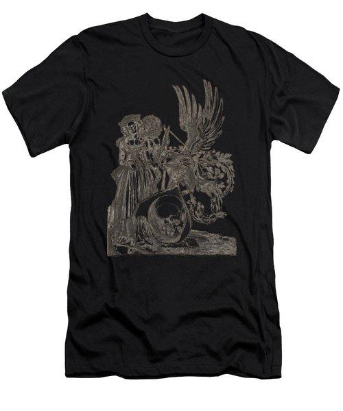 Albrecht Durer - Coat Of Arms With A Skull Men's T-Shirt (Athletic Fit)