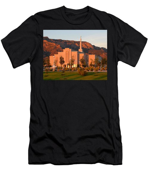 Albuquerque Lds Temple At Sunset 1 Men's T-Shirt (Athletic Fit)