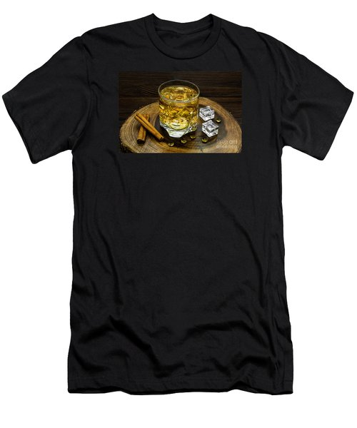 Alcoholic Beverage With Cinnamon And Ice Men's T-Shirt (Athletic Fit)