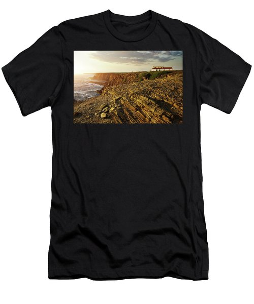 Men's T-Shirt (Slim Fit) featuring the photograph Alentejo Cliffs by Carlos Caetano