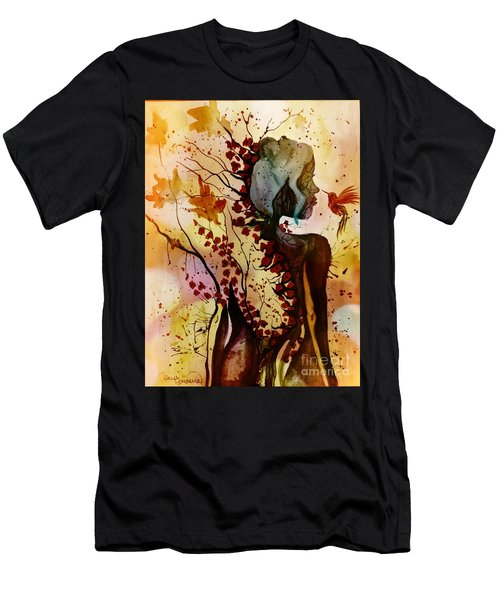 Men's T-Shirt (Athletic Fit) featuring the painting Alex In Wonderland by Denise Tomasura