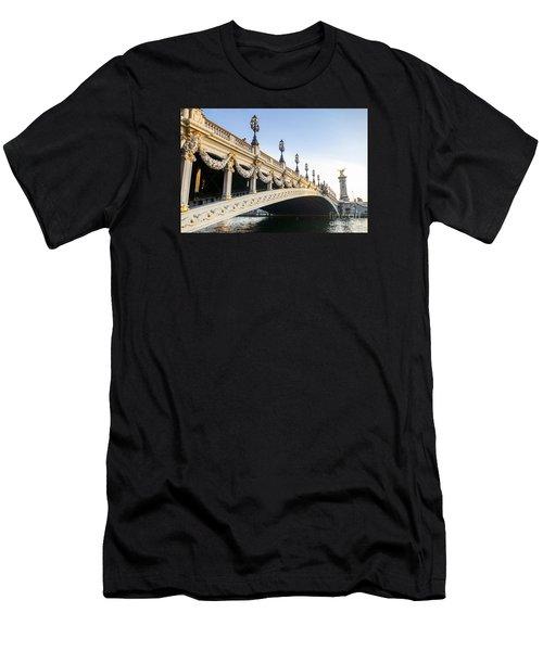 Alexandre IIi Bridge In Paris France Early Morning Men's T-Shirt (Athletic Fit)