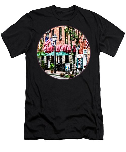 Alexandria Street With Cafe Men's T-Shirt (Slim Fit)