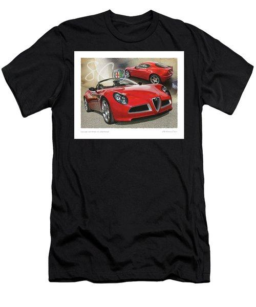 Alfa Romeo 8c Competizione Men's T-Shirt (Athletic Fit)