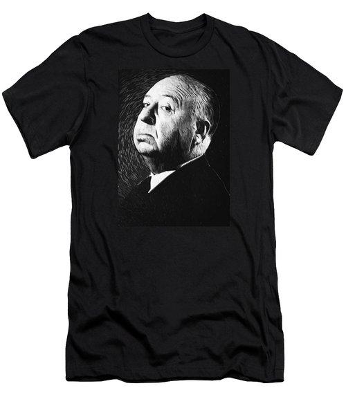 Alfred Hitchcock Men's T-Shirt (Slim Fit) by Taylan Apukovska