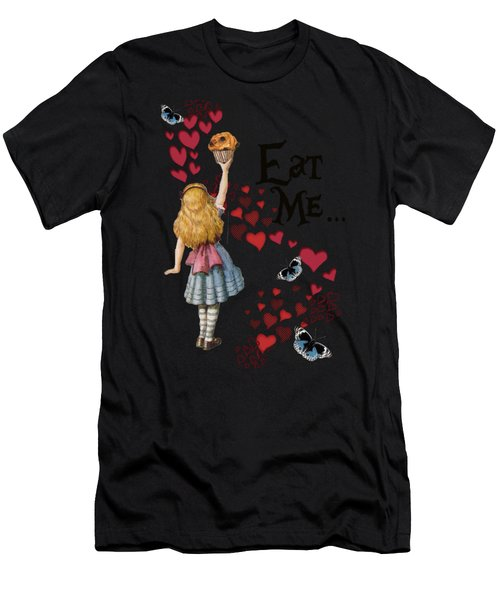 Alice In The Wonderland Eat Me Muffin  Men's T-Shirt (Athletic Fit)