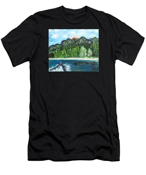 Alice Tubing On Hungry Horse  Reservoir Men's T-Shirt (Athletic Fit)