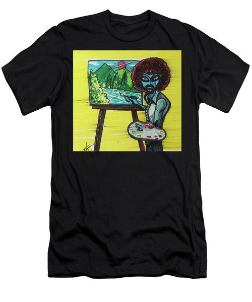 alien Bob Ross Men's T-Shirt (Athletic Fit)