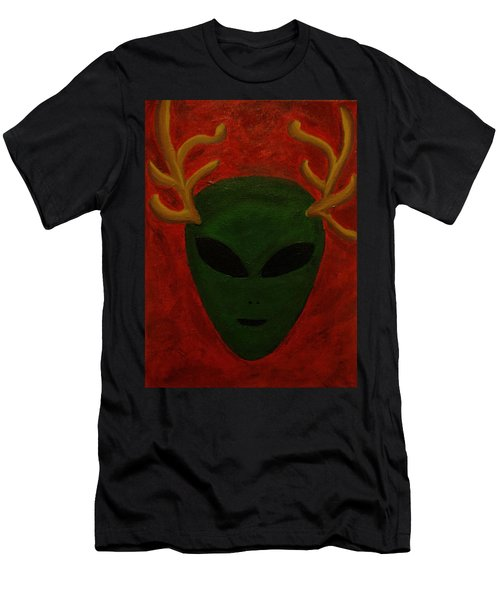 Men's T-Shirt (Slim Fit) featuring the painting Alien Deer by Lola Connelly
