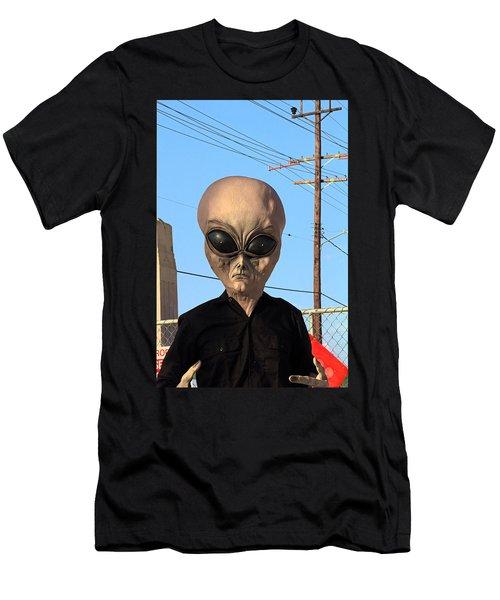Alien Face At 6th Street Bridge Men's T-Shirt (Slim Fit) by Viktor Savchenko