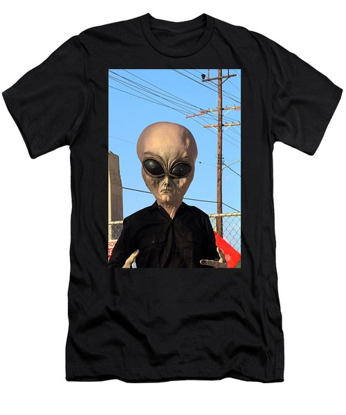 Alien Face At 6th Street Bridge Men's T-Shirt (Athletic Fit)