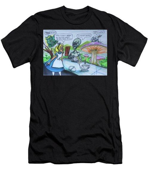 Alien In Wonderland Men's T-Shirt (Athletic Fit)