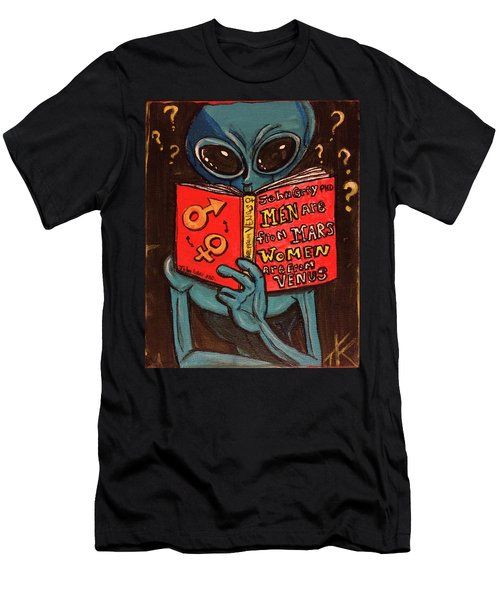 Alien Looking For Answers About Love Men's T-Shirt (Athletic Fit)