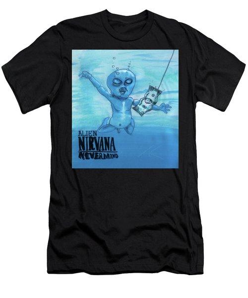 Alien Nevermind Men's T-Shirt (Athletic Fit)