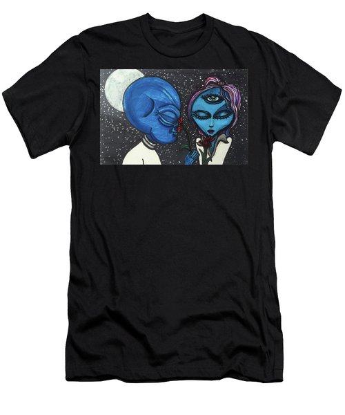 Aliens Love Flowers Men's T-Shirt (Athletic Fit)