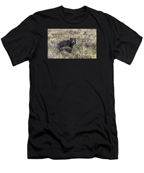 Men's T-Shirt (Slim Fit) featuring the photograph All Alone by Yeates Photography