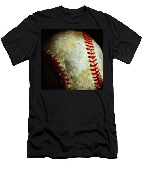 All American Pastime - Baseball - Square - Painterly Men's T-Shirt (Athletic Fit)