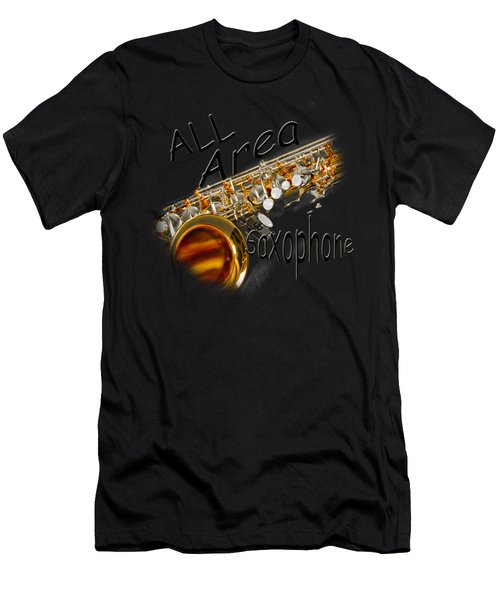 All Area Saxophone Men's T-Shirt (Athletic Fit)