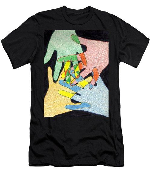 All In Men's T-Shirt (Slim Fit) by Jean Haynes