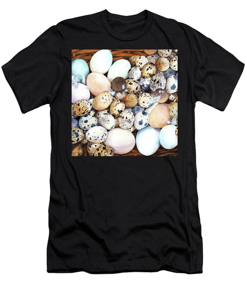 All My Eggs In One Basket Birds Egg Print Men's T-Shirt (Athletic Fit)