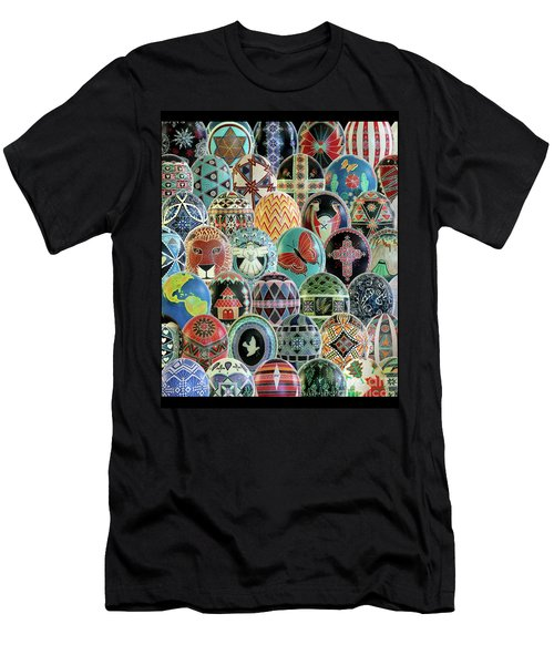 All Ostrich Eggs Collage Men's T-Shirt (Athletic Fit)