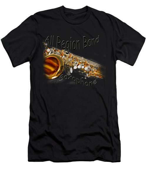 All Region Band Saxophone Men's T-Shirt (Athletic Fit)