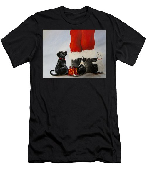 All The Fur Kids Love Santa Men's T-Shirt (Athletic Fit)