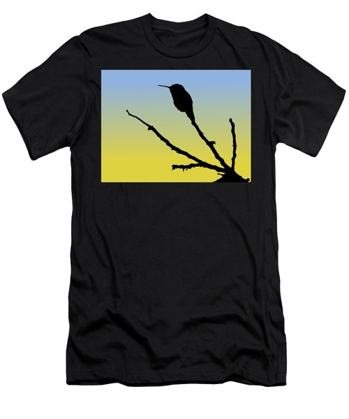 Allen's Hummingbird Silhouette At Sunrise Men's T-Shirt (Athletic Fit)