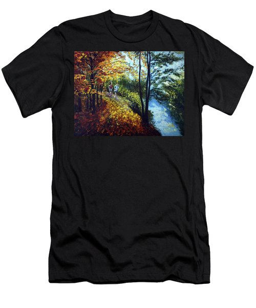 Alley By The Lake 1 Men's T-Shirt (Athletic Fit)