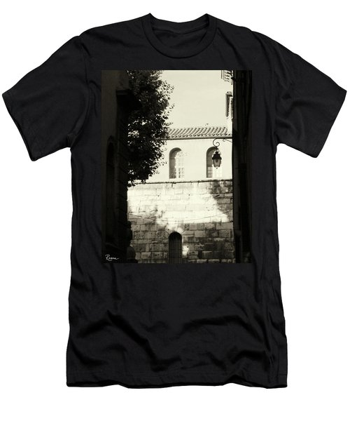 Men's T-Shirt (Athletic Fit) featuring the photograph Alley Mystery by Rasma Bertz