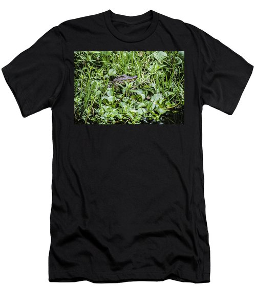 Alligator In Duck Weed, Louisiana Men's T-Shirt (Athletic Fit)