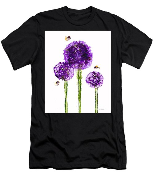 Alliums Humming Men's T-Shirt (Athletic Fit)