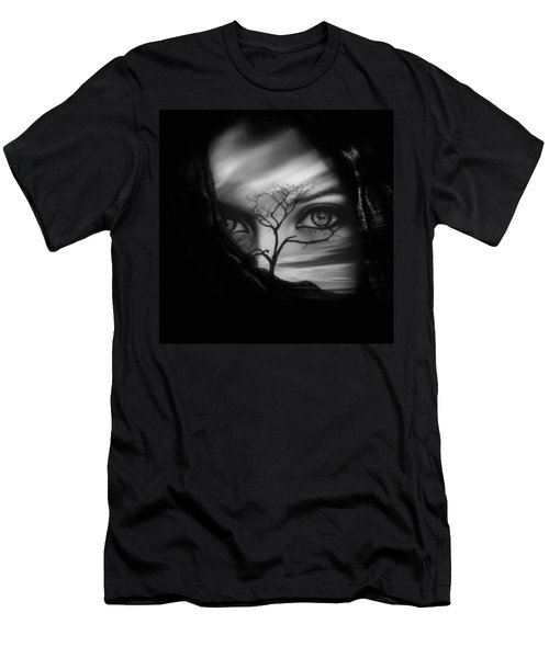 Allure Of Arabia Black Men's T-Shirt (Athletic Fit)