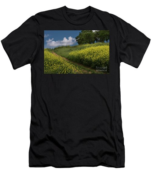 Almaden Meadows' Mustard Blossoms Men's T-Shirt (Athletic Fit)