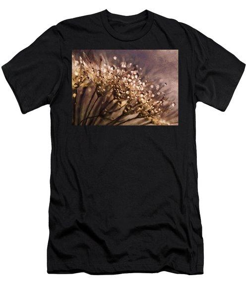 Almost Sepia Delicate Dandelions Men's T-Shirt (Athletic Fit)