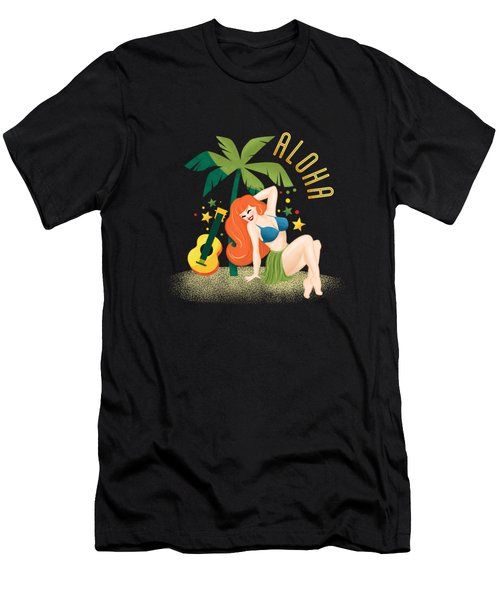 Aloha From Sunny Hawaii Wish You Were Here Men's T-Shirt (Athletic Fit)