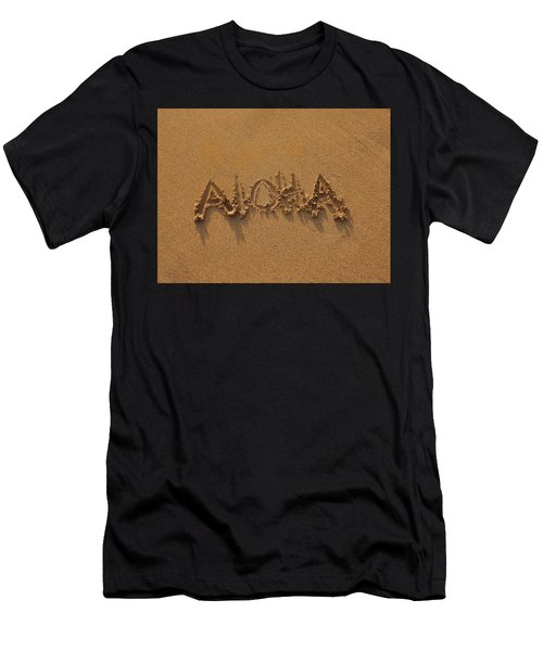 Aloha In The Sand Men's T-Shirt (Athletic Fit)