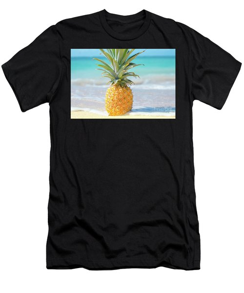 Men's T-Shirt (Athletic Fit) featuring the photograph Aloha Pineapple Beach by Sharon Mau