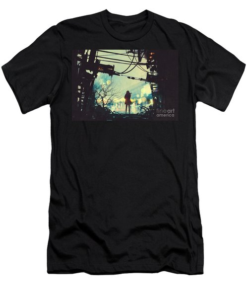 Alone In The Abandoned Town#2 Men's T-Shirt (Athletic Fit)