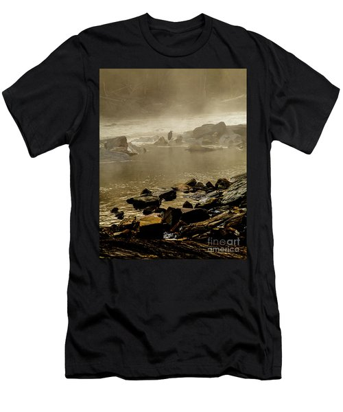 Men's T-Shirt (Slim Fit) featuring the photograph Alone In The Mist by Iris Greenwell