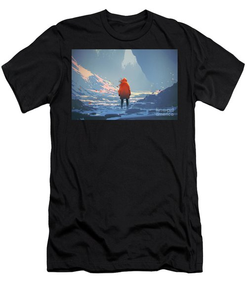 Alone In Winter Men's T-Shirt (Athletic Fit)