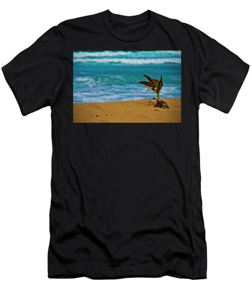 Alone On The Beach Men's T-Shirt (Athletic Fit)