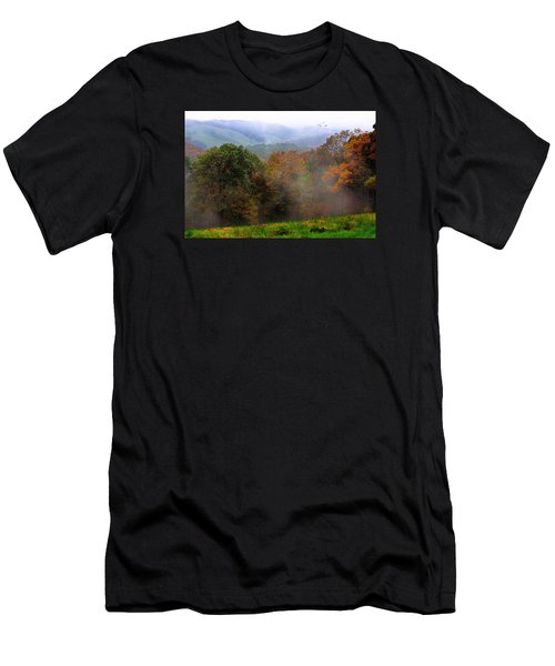 Men's T-Shirt (Slim Fit) featuring the photograph Along The Brp by Joan Bertucci